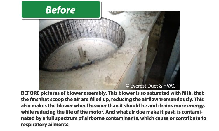 Tucson Everest Air HVAC Assembly Before